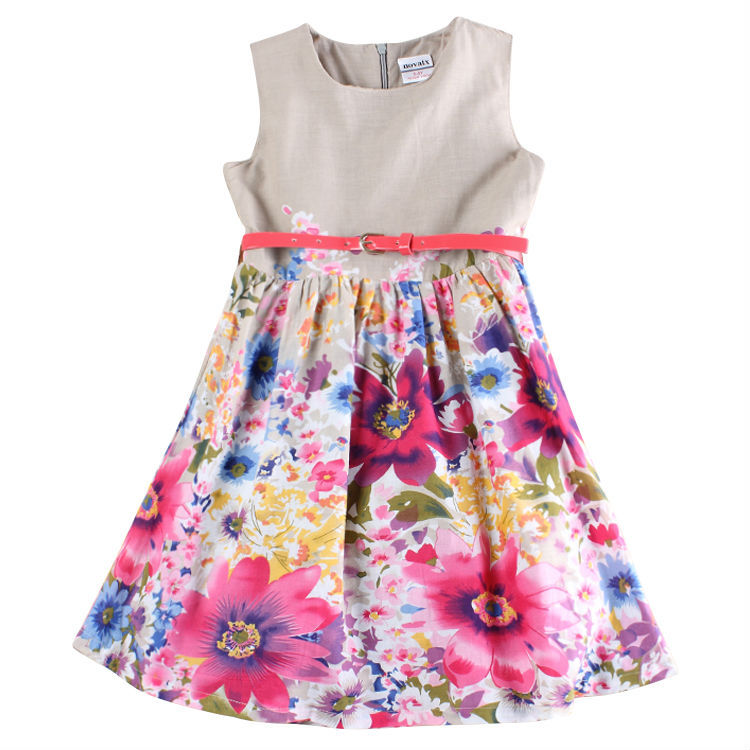 AliExpress.com Product - Princess Dress Girl Nova Floral Tutu Dress for Children Girl Summer Baby Girl Dress Cotton Girls Costumes H5750