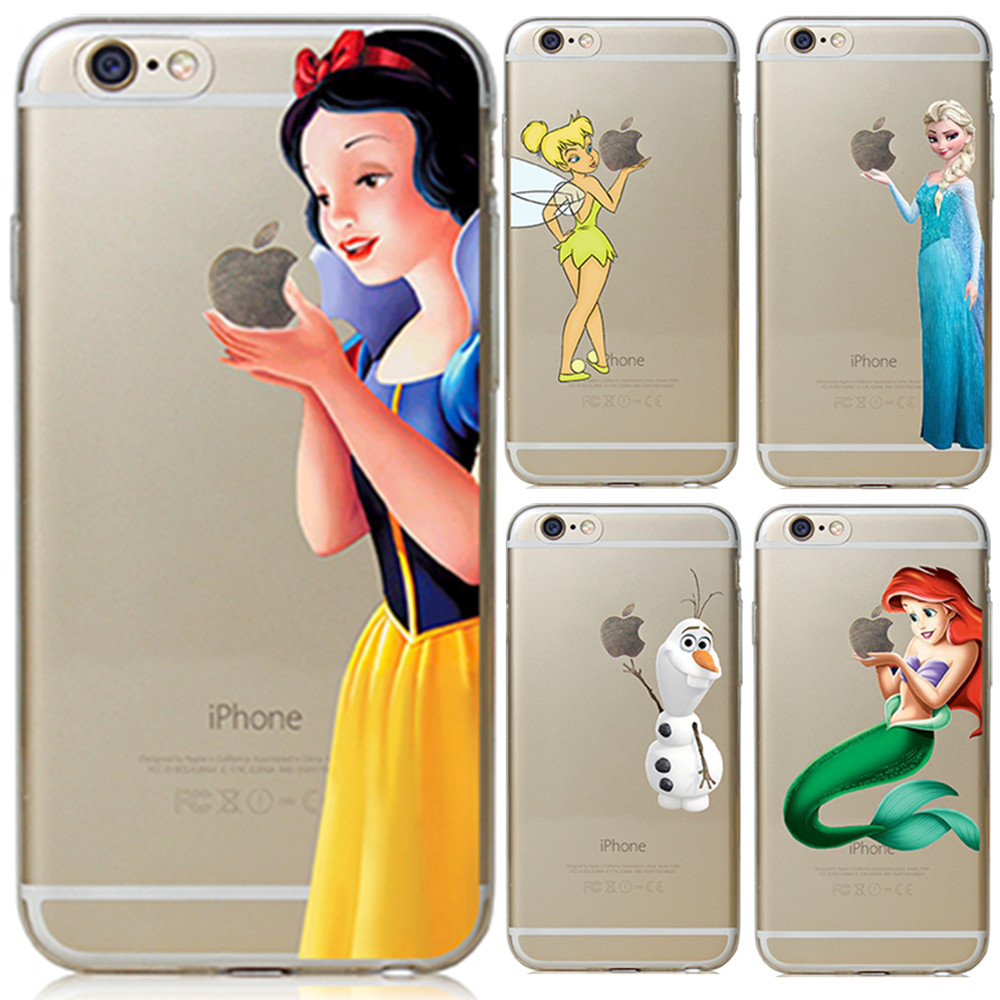For Apple iPhone 6 6S Case Snow White Tinker bell Mermaid Hard Back Cover For iPhone 6s Case 2016 New arrival For iphoen 6s Case(China (Mainland))