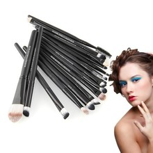 Pro 20pcs Make Up Eyeshadow Eyebrow Mascara Lip Sponge Eyeliner Brushes Set Kit Free shipping
