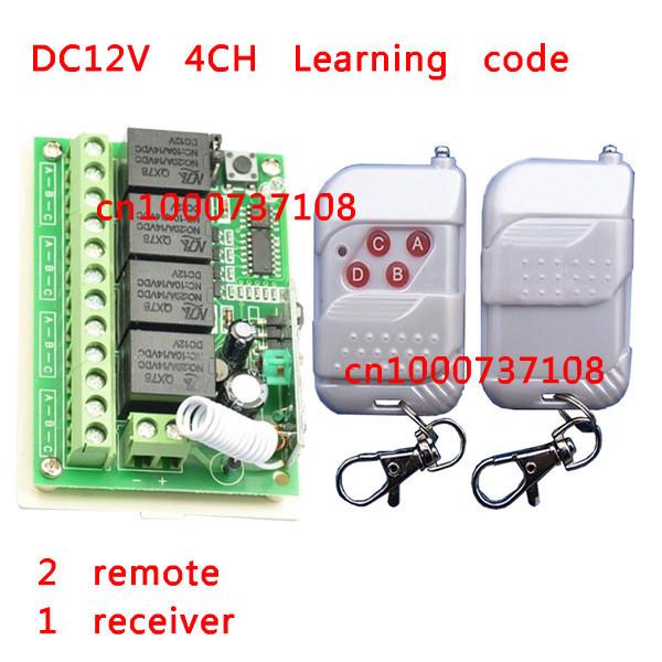 315/433.92MHz DC 12V 10A 4CH 4Keys RF Wireless Remote Control Switches rf micro switch 315mhz electrical switch(China (Mainland))