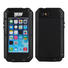 Metal Extreme Shockproof Military Heavy Duty Tempered Glass Cover Case for Apple iPhone 5/5s for iPhone SE Waterproof Phone Bag(China (Mainland))