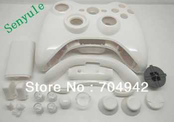 Controller shell + Button + Screws for Xbox360 Controller all repair parts Kits for Xbox360 Wireless Controller Free shipping