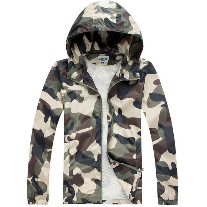 Summer Style Quick-dry Hiking Outdoor Sport Skin Jackets Men Women Camouflage Military 2015 Brand Men's Jacket Waterproof ZHY54(China (Mainland))