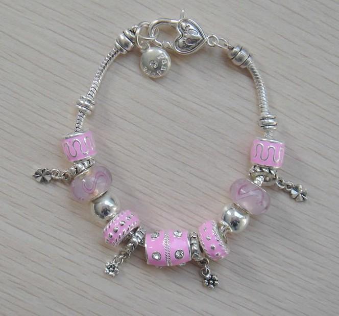 pn234 wholesale fashion jewelry glass bead clover charm