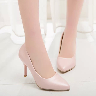 2016 New size 34-42 Fashion High Heels Pumps Sexy Bride Women shoes Thin Heel Pointed Toe High Heels Shoes women(China (Mainland))