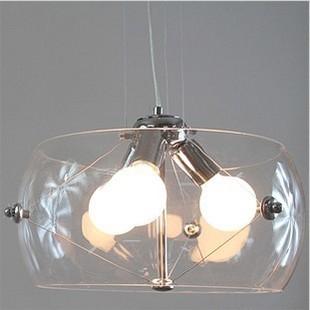 Modern fashion drum E27 glass pendant light fish tank restaurant lamp living room lights AC220v/110v D40cm(China (Mainland))