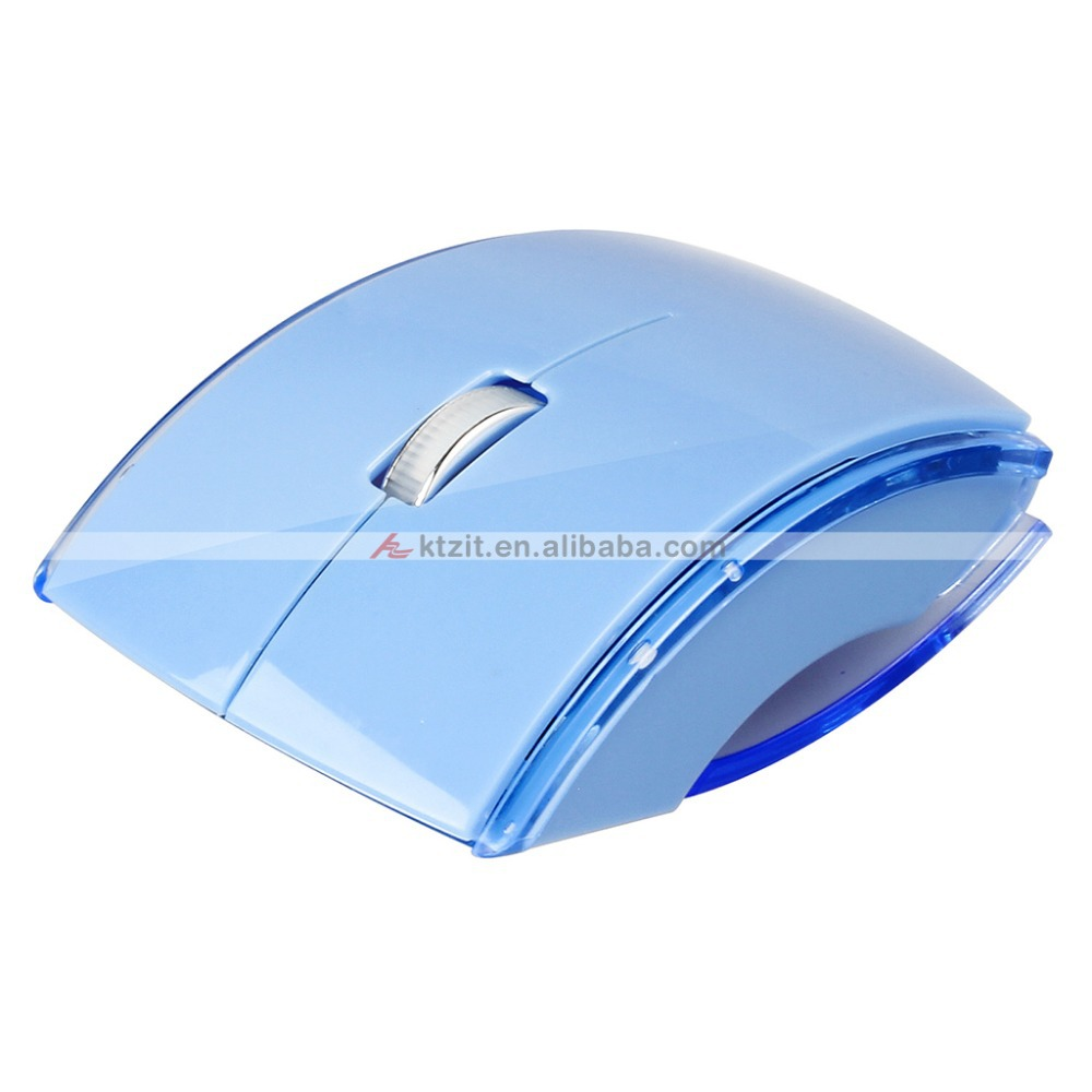 USB 2.4GHz Foldable Optical Wireless Mouse ARC Scroll Mice for Laptop Computer PC free shipping(China (Mainland))