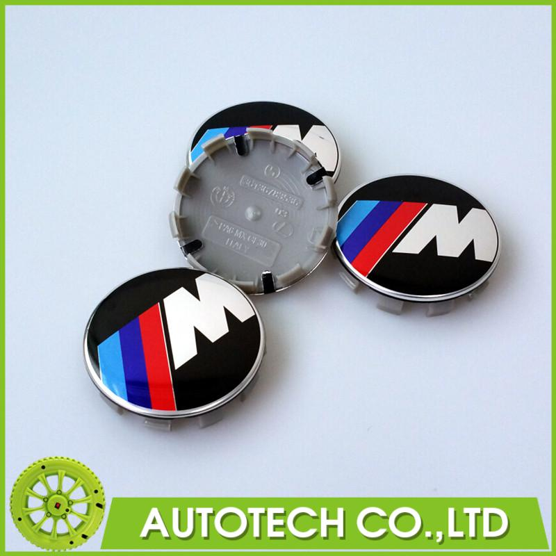 Car Styling 4Pcs/Lot 68mm ABS Alloy M Sport 10Pins Car Wheel Center Hub Caps Rim Caps Logo Emblem Badge(China (Mainland))