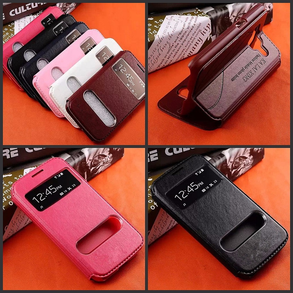 Гаджет  High quality Luxury Dual View Window Leather Flip Cover Case For Samsung Galaxy prime G360 G3606 G3608 Case With Stand Function None Телефоны и Телекоммуникации