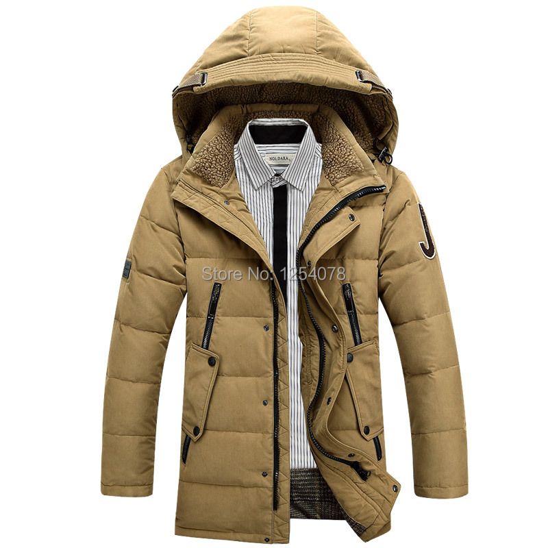 Free shipping fashion hooded scarf men s winter coat white duck down jacket and winter clothes