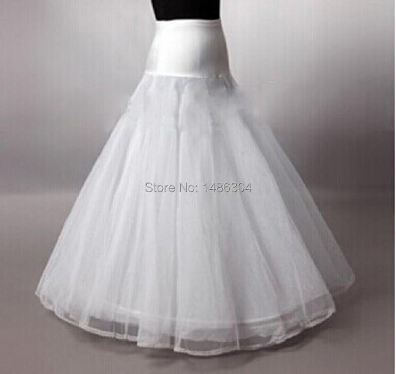 In Stock 2015 Hot Sale 1 Hoop A Line Bone Petticoats For Wedding Dress Wedding Skirt Accessories