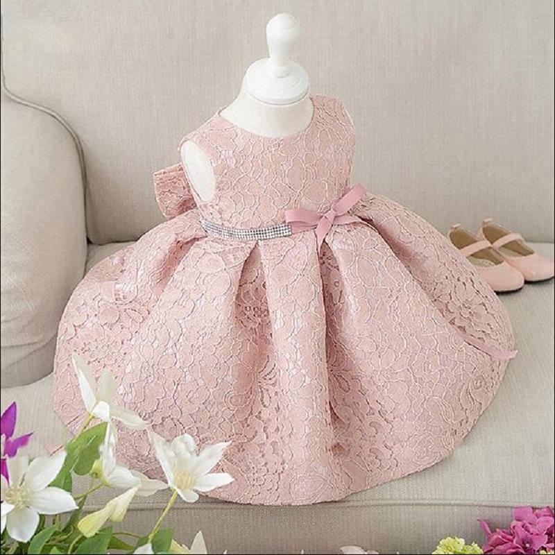 High quality Baby Girls Wedding Dresses Girls Red Lace Big bow Sleeveless Dress baby clothing free shipping(China (Mainland))