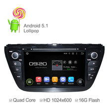 HD 1024*600 Android 5.1 Car DVD For Suzuki SX4 S-Cross 2014 with GPS Navi Stereo Capacitive Touch Screen Quad Core 16GB Flash(China (Mainland))