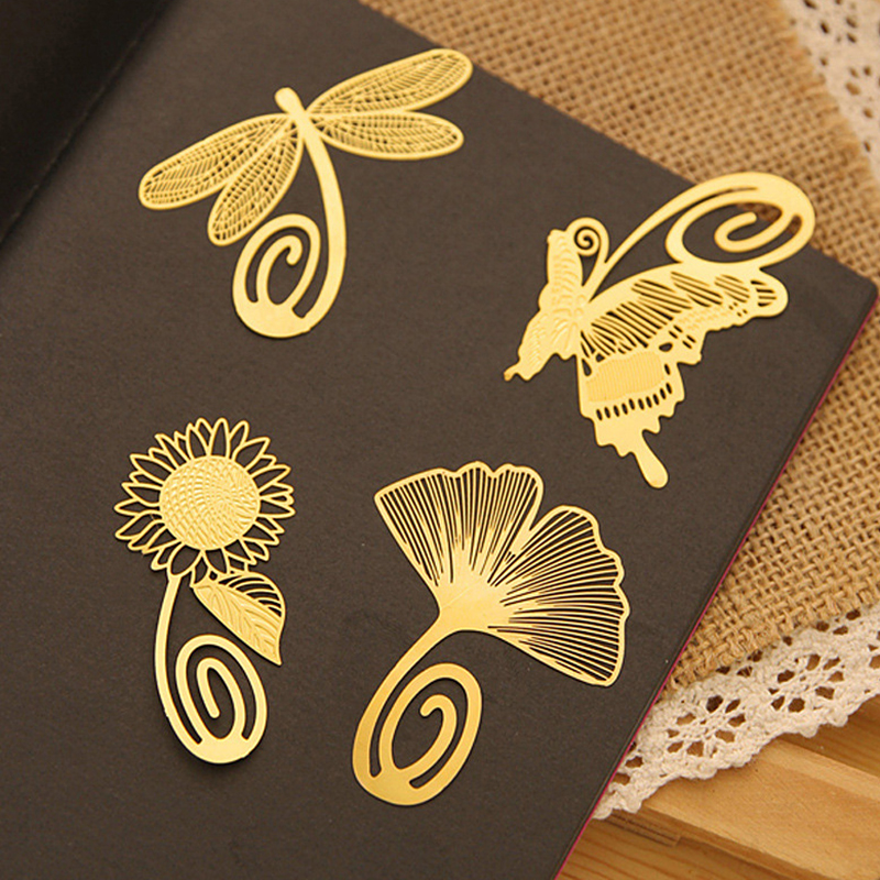 Korea stationery exquisite mini metal bookmark chinese style brief vintage classic 8 full set(China (Mainland))