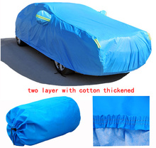For PEUGEOT 206 207 307 308 407 3008 firm two layer Car covers with cotton thicken Waterproof Anti UV Snow Dust covers of car(China (Mainland))