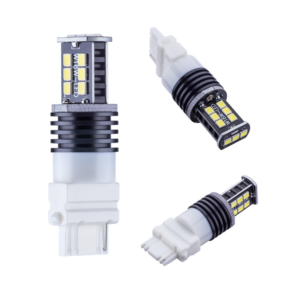 2pcs 3156 Led High Power 12 SMD 5730 5W Cree XPE LED Xenon white Turn Signal Lights P27w led car bulbs P27/10W Lamp 12V(China (Mainland))