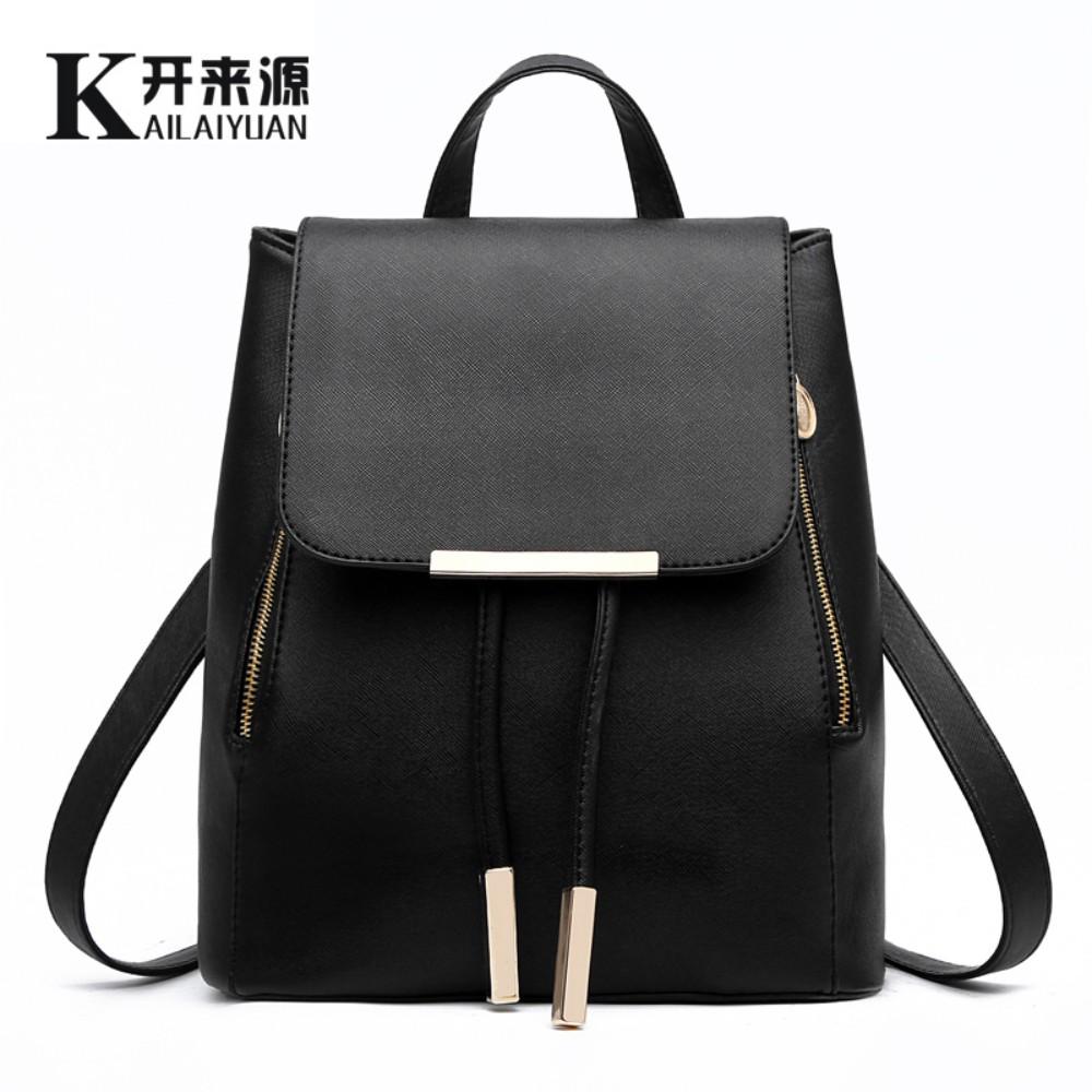 100% Genuine leather Women Backpack 2016 New Fashionista student fashion leisure backpack(China (Mainland))