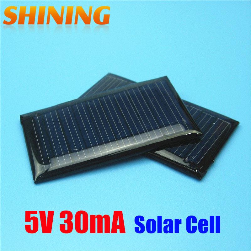 5V 30mA Mini Polycrystalline 0.15 Watts Solar Cell Battery Panel Charger For DIY Education Study Kits Small 3.7V Battery Toy(China (Mainland))