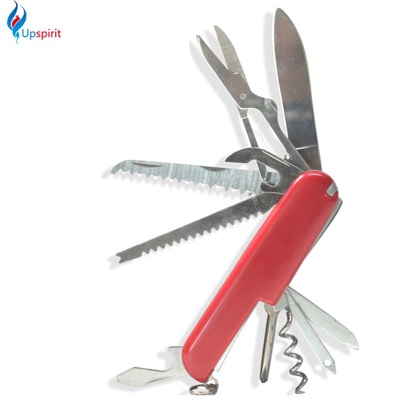 Swiss Red Multifunctional Folding Knife Stainless Steel Multi Tool Tactical Folding Knife Outdoor Camping Survival Army Knife(China (Mainland))