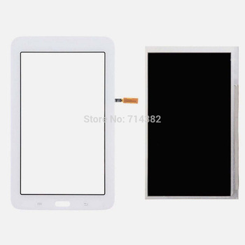 for Samsung Galaxy Tab 3 Lite 7.0 SM-T110 T110 LCD Display Panel Monitor + White Touch Screen Digitizer Glass Sensor Replacement
