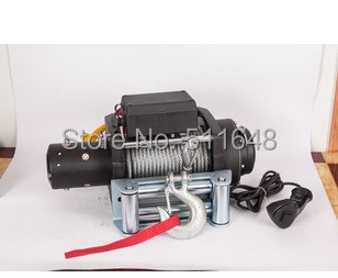Free Shipping 12V 15000LB Electric Winch,4wd/4x4 Winch,Truck winch