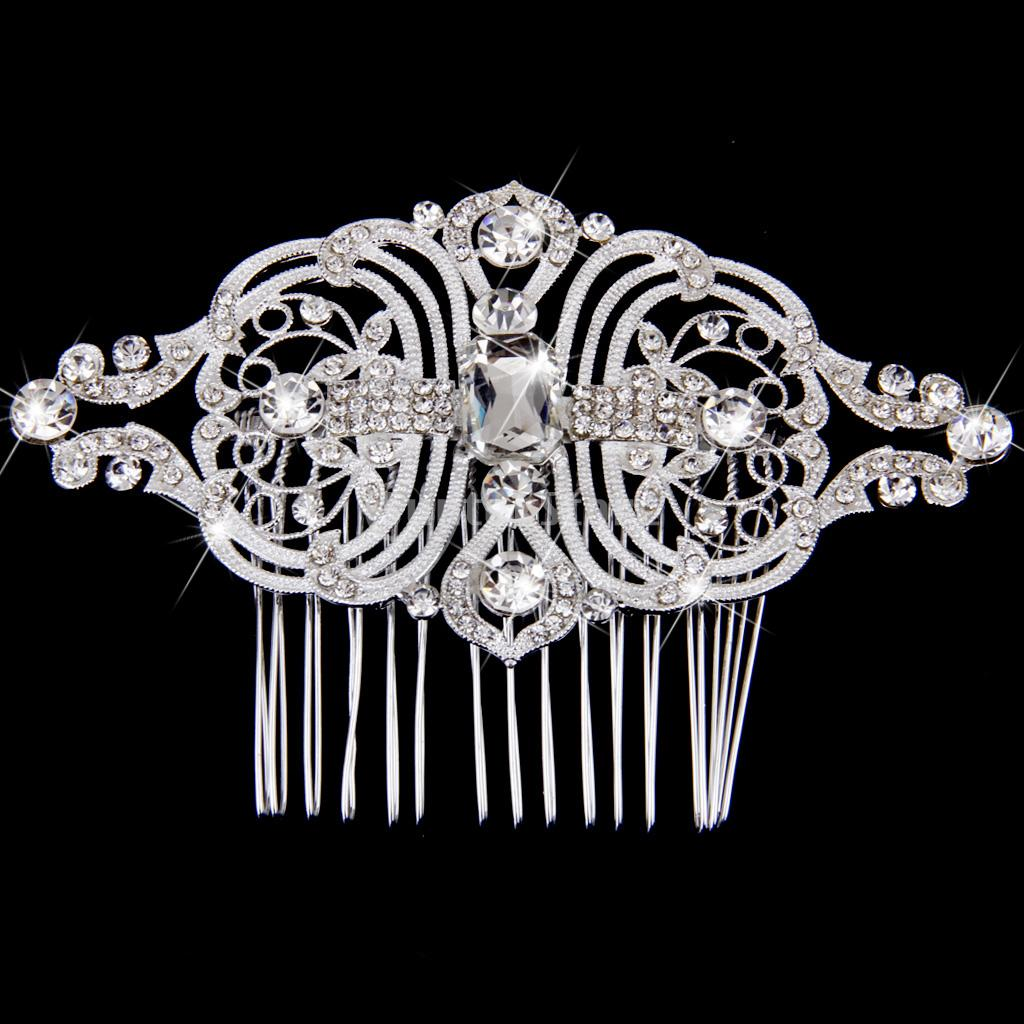 New Arrivals 2015 Phenovo Copper Hair Comb Bridal Wedding Rhinestone Hair Accessories Free Shipping(China (Mainland))