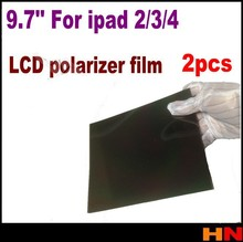 2pcs 9.7'' 9.7 inch LCD polarizer film polarizing film polarize film for ipad 2, for ipad 3, for ipad 4(China (Mainland))