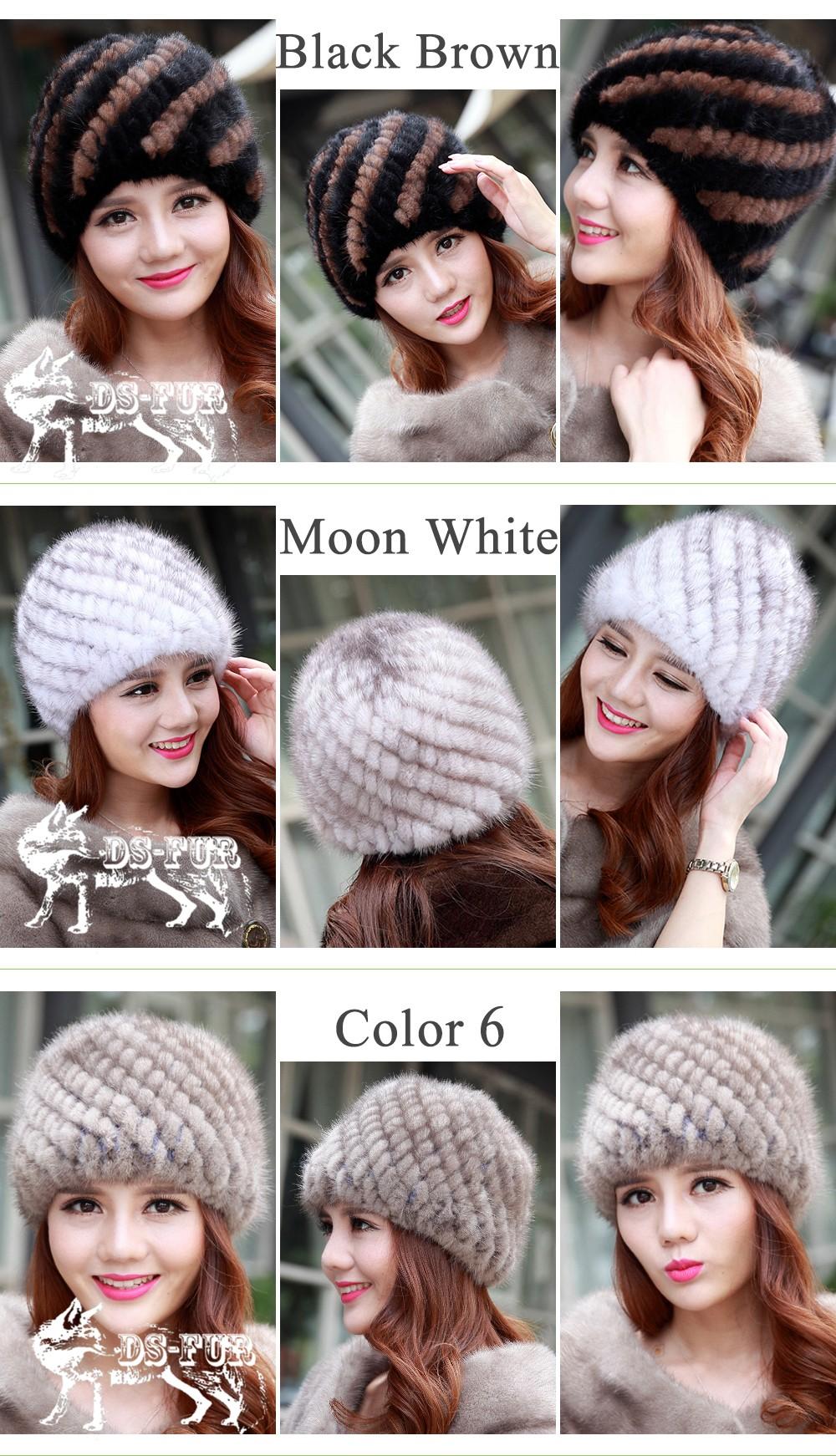 Keep warm knitted  hat pineapple grain 02