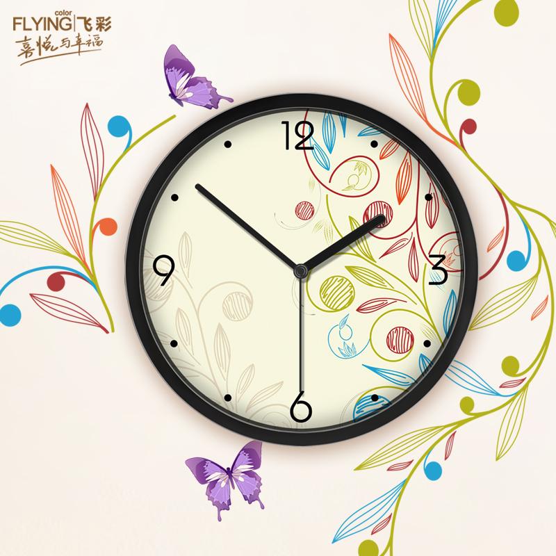 Furnishings light wall clock romantic brief mute quartz clock and watch(China (Mainland))