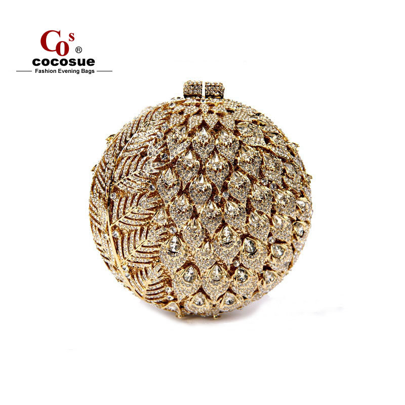 Crystal Luxury gold evening bags fashion Ladies Clutch Party Purses Evening Bags Women Purse CO1151 - Guangzhou cocosue Fashion Co., Ltd. store