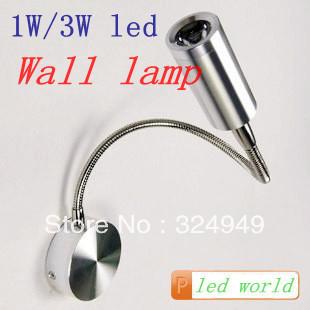 With the switch hot sell 3w led wall light/led wall lamp AC85-264V led decorative lamp 50pcs/lot free shipping(China (Mainland))
