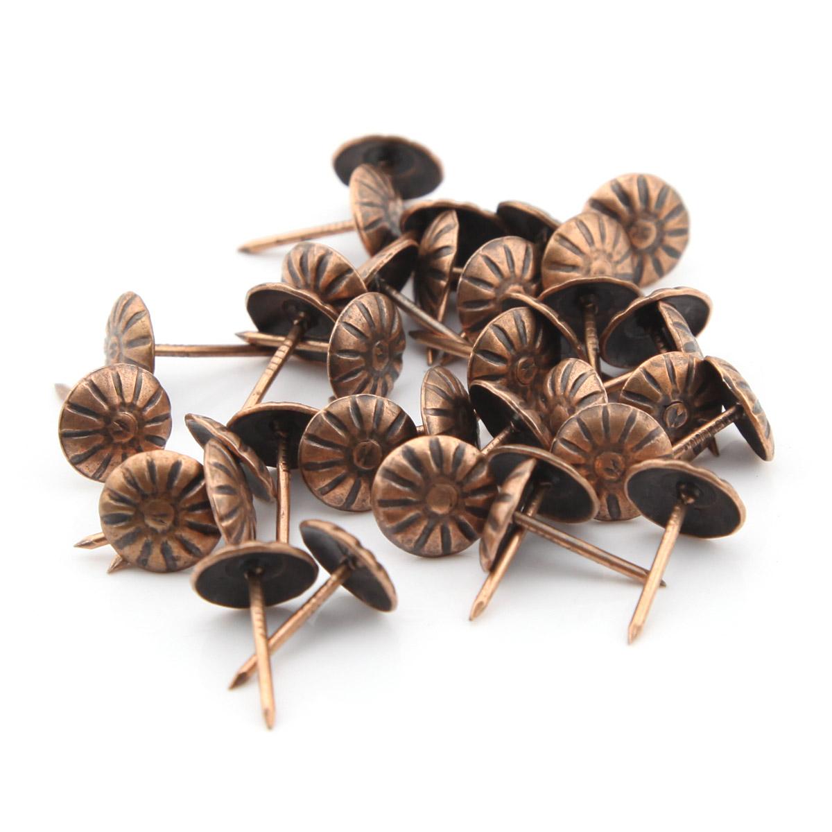 100pcs 11mmx16mm Red Bronze Chrysanthemum nails Pushpin Doornail Drawing Pin Deco Tack Upholstery Nail Drum Nail Thumbtack(China (Mainland))
