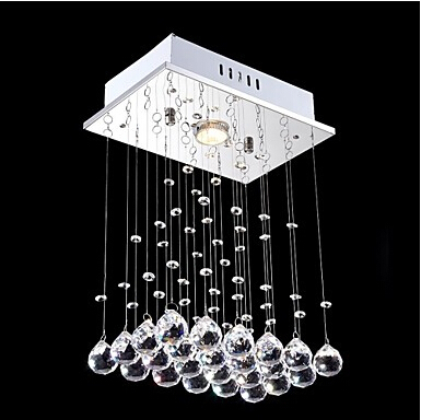 Ikea modern crystal chandelier with 1 lights lustres de cristal indoor decora - Lustre ventilateur ikea ...