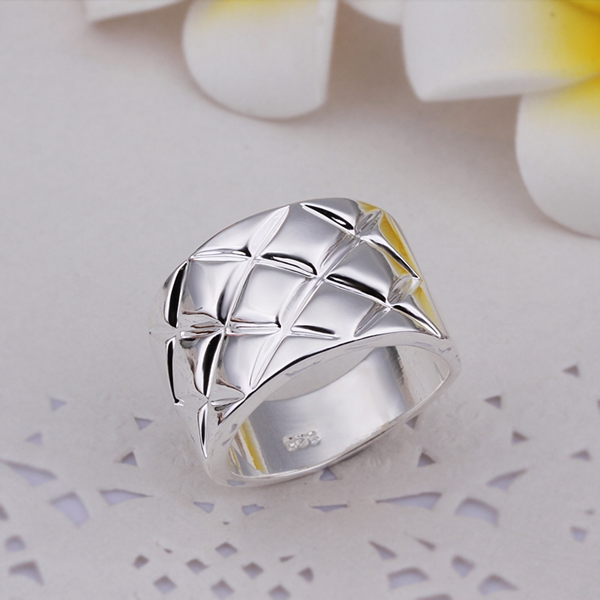 Hot Sell Wholesale Sterling 925 silver ring 925 silver fashion ring Prismatic Finger Rings SMTR290