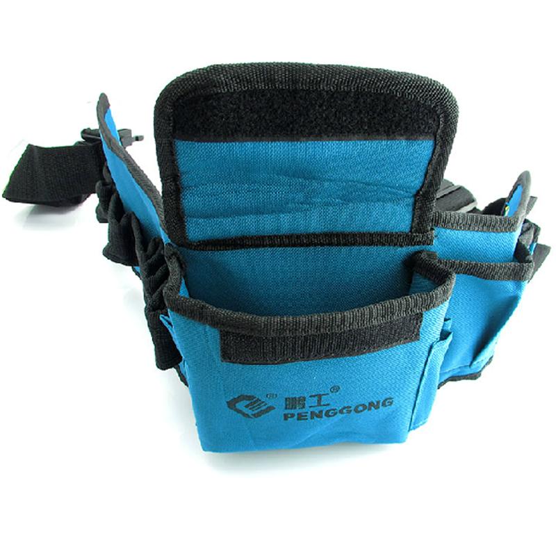прочный инструмент мешок водонепроницаемый синий холст сумка для инструментов в талии Многофункциональные электрические сумку для переноски инструментов в талии