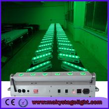 4/lot free ship Led stage light 6x18w rgbaw uv led bar battery wall wash wireless dmx battery power uplights 6in1music light bar(China (Mainland))