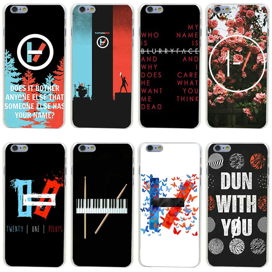 362GH Twenty One Pilots 21 Hard Transparent Painted Cover iphone 4 4s 5 5s 6 6s plus 7 Plus  -  MZSLQS Store store
