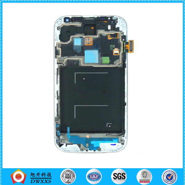 Lcd Display For Samsung Galaxy S4 i9505 LCD with Touch Screen Digitizer with Frame Assembly Blue Color Free shipping