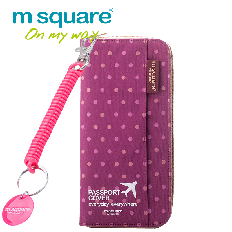 M Square Travel Passport Cover ID Credit Card Holder Keychain Lanyard Wallet Business Passport Holder The Cover Of The Passport<br><br>Aliexpress
