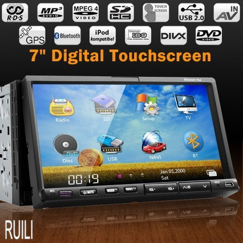 Free Map Free TFT Card 7 inch Touch Screen 2 din Car Multimedia DVD Player with GPS Navigation
