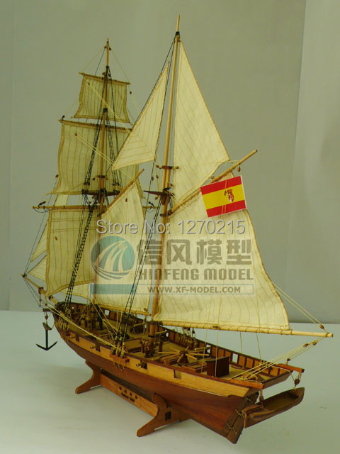 ALL NEW VERSION Wooden sailing boat model wood scale model1/48 HALCON scale assembly model ship building kits scale boat ship(China (Mainland))