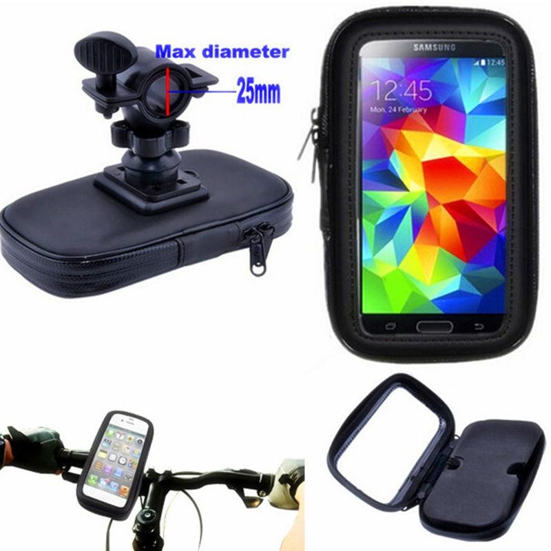 Universal Bicycle Phone Holder Mobile Phone Stand Fit for Samsung Galaxy G360 G530 G7106 G7508Q G313H C5/C7 E5 E7 Waterproof Bag(China (Mainland))