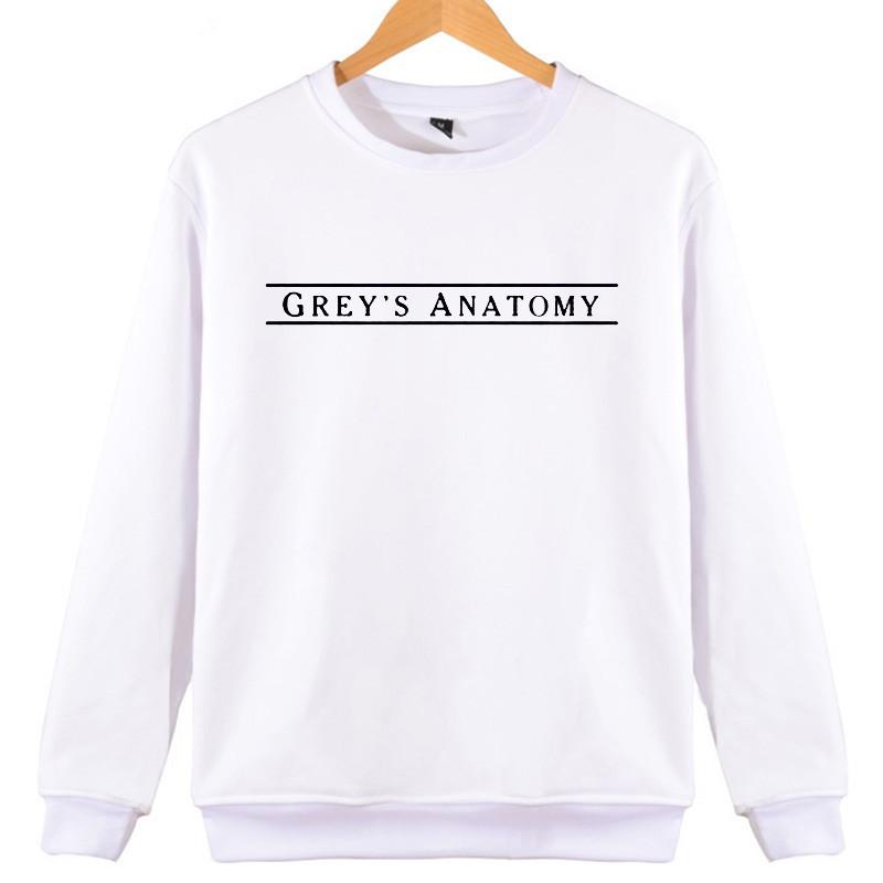Großhandel Womens Hoodies Graue Anatomie Buchstaben Gedruckt ...