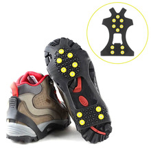For mountaineering climbing Crampons lastic magic spike shoes with crampon anti slip Ice Gripper Anti-slip overshoes(China (Mainland))
