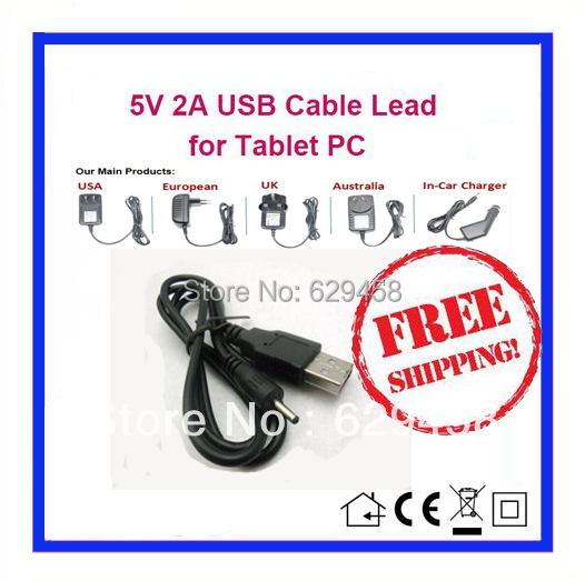 5V 2A USB Cable Charger Power for Yuandao N101 Window Tablet