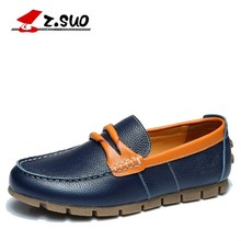 Z.Suo Originals Brand Men Loafers Fashion British Genuine Cow Leather Casual Slip On Driving Shoes Tods Man Flat Shoes ZS672J(China (Mainland))