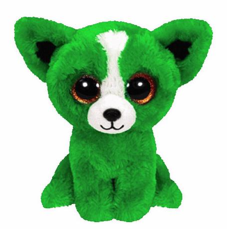 Free Shipping Original TY Beanie Boos Big Eye Tomato The Green Dog Stuffed Animals Kids Plush Toys Children Gifts 15CM(China (Mainland))