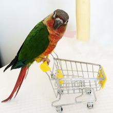 Vendita calda giocattolo Parrot uccello Supermercato Intelligenza Cart Bambini Crescita Box Giocattoli Divertenti per gli uccelli Tre Colori(China (Mainland))