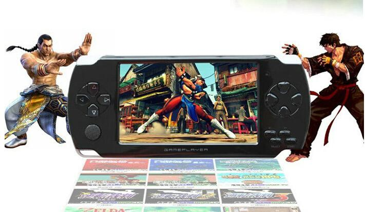 Free Shipping 1pcs 4GB 4.3 inch LCD Screen MP4 MP5 Player Games Console Handheld Game free Numerous games ebook/FM/1.3 MP Camera(China (Mainland))