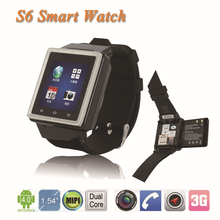 2015 New 3G Android 4.0 SmartWatch ZGPAX S6 1.54 Inch Smart Watch Phone Smartphone 2.0MP Camera Wifi WCDMA GSM GPS For phone